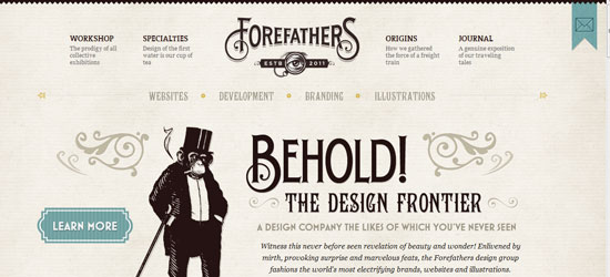 forefathers responsive design
